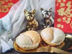 中式金银双色酥饼