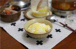 香菇鸡汤+杂粮饭