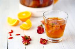 玫瑰红糖姜茶